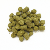 Hop pellets available in 1 ounce bags for ease of use and measurement.