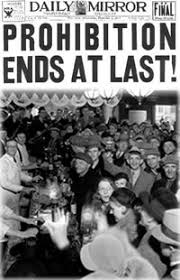 Historical news image of the end of prohibition